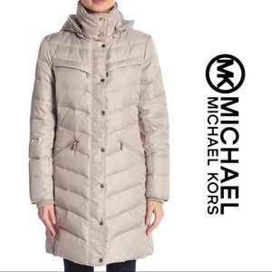 NWT🌺Michael Kors Quilted Hooted Jacket